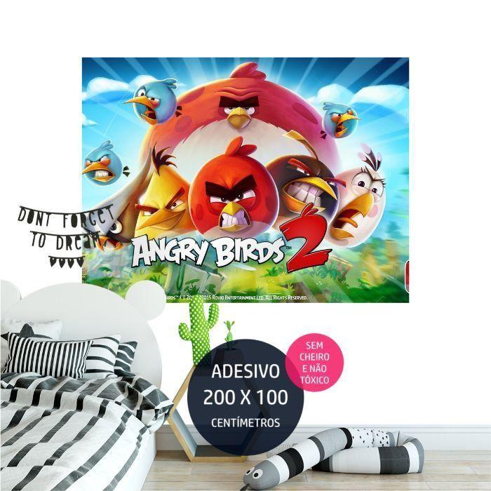 angrybirds adesivo parede aniversario AP1987