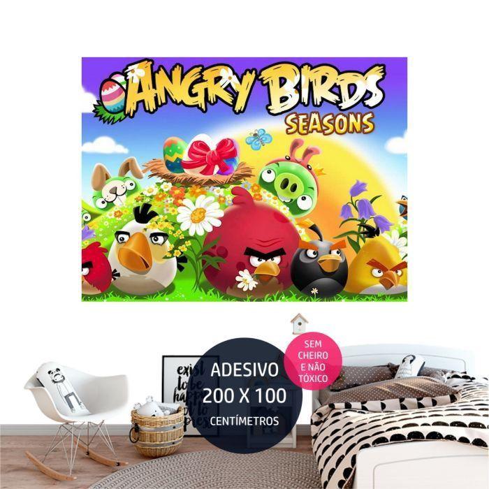 angrybirds adesivo parede decoracao de festa infantil AP1998