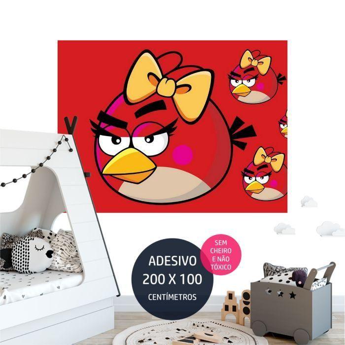 angrybirds adesivo parede painel aniversario AP2009