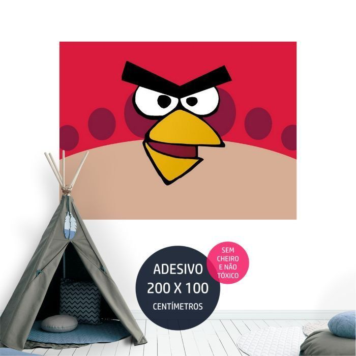 angrybirds adesivo parede painel infantil AP2017