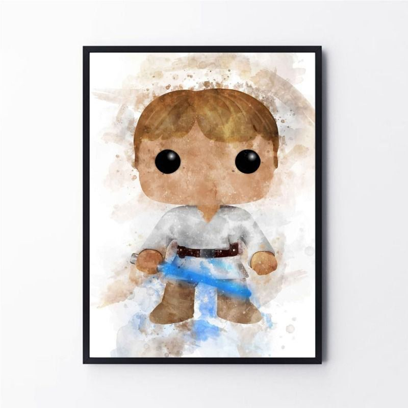 Arte Aquarela Luke Skywalker Star Wars
