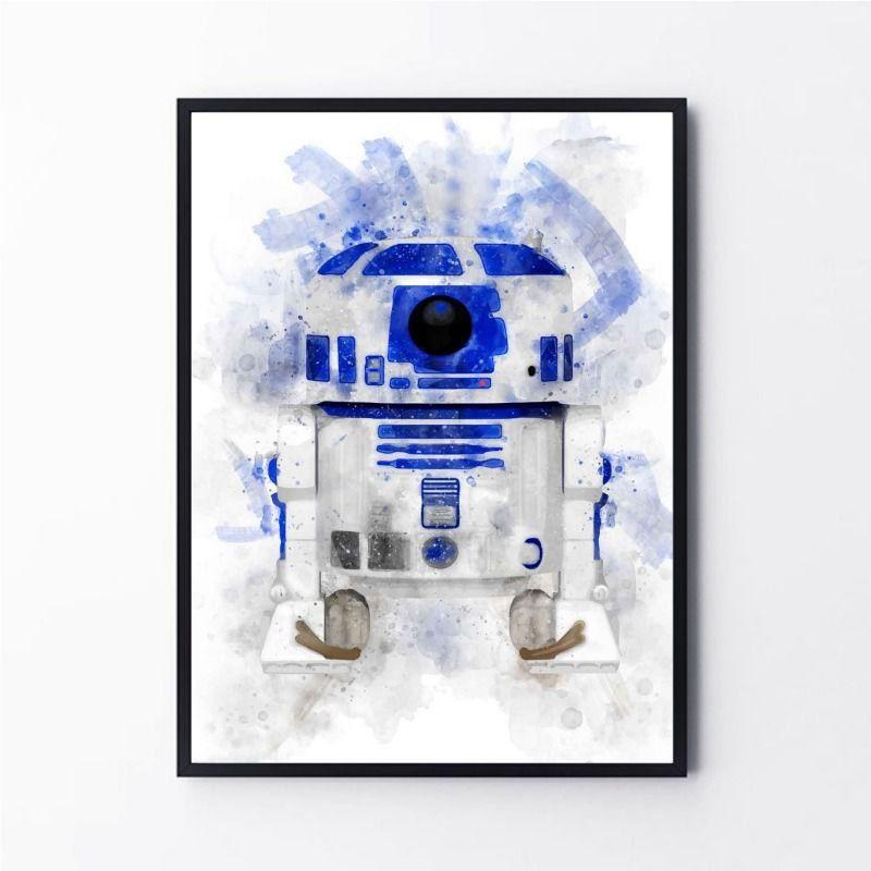 Arte Aquarela R2-D2 Star Wars
