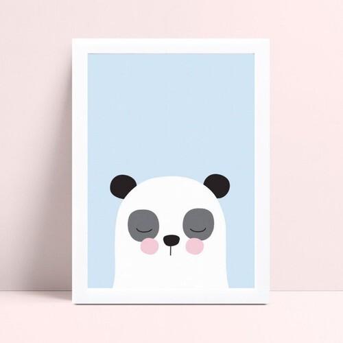 Decoração quadro poster mdf desenho panda