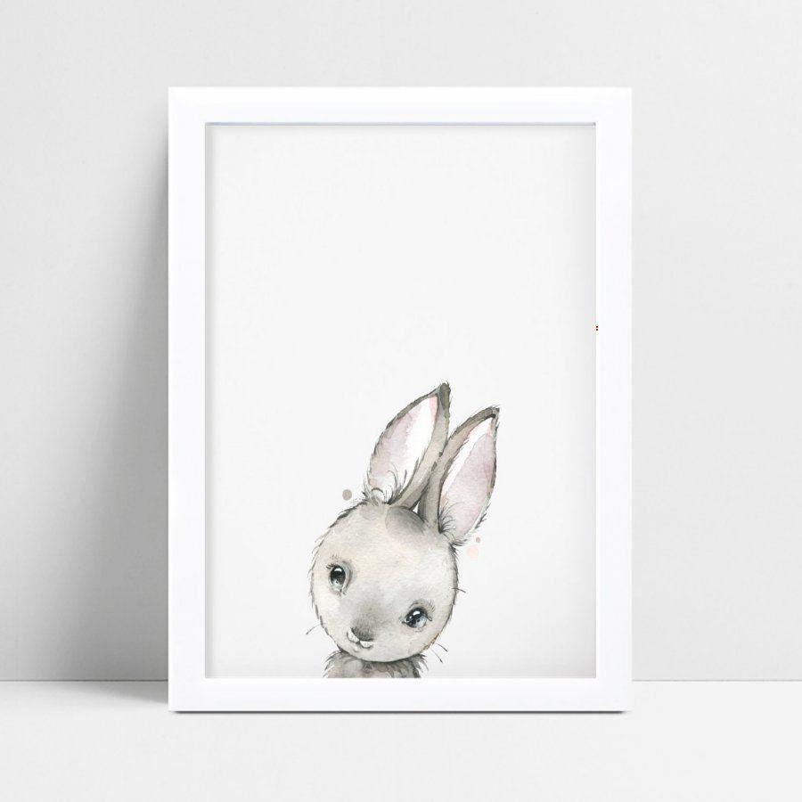 Decoração quadro quadro mdf desenho coelho bebê