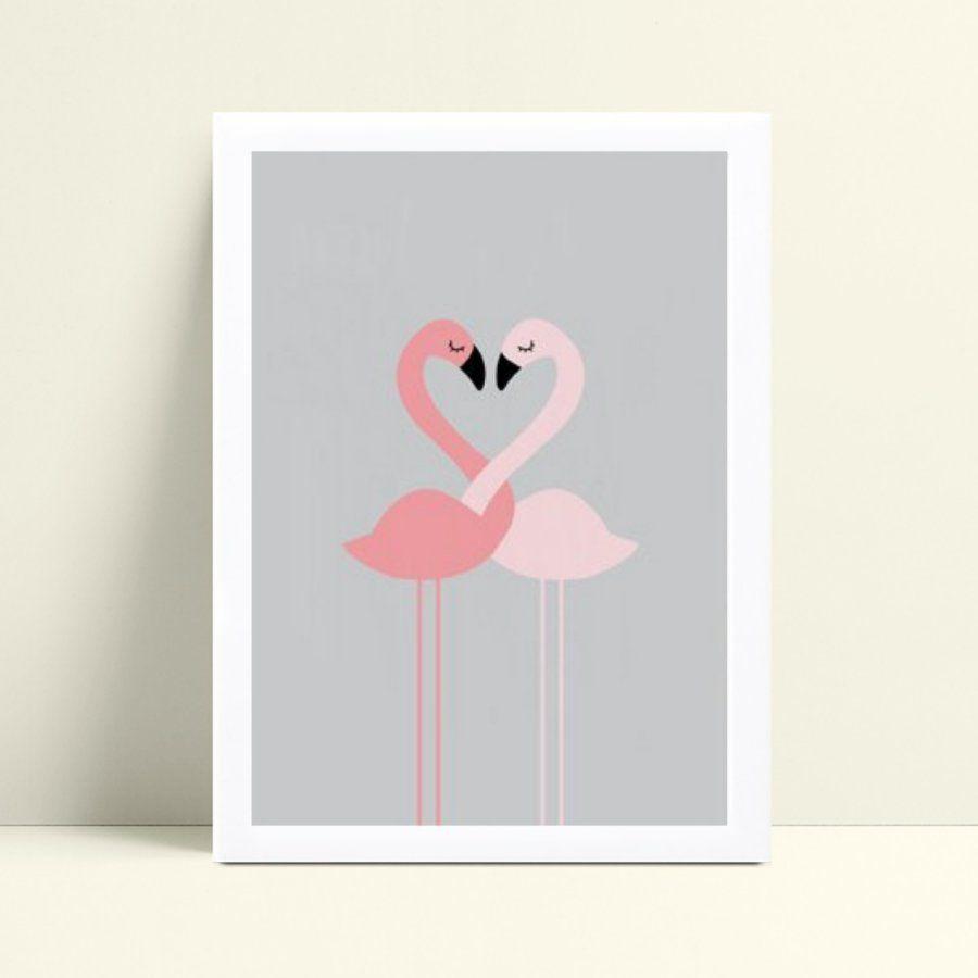 Decoração quadro quadro mdf flamingos