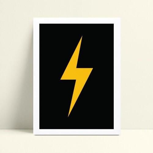 Decoração quadro quadro mdf raio amarelo