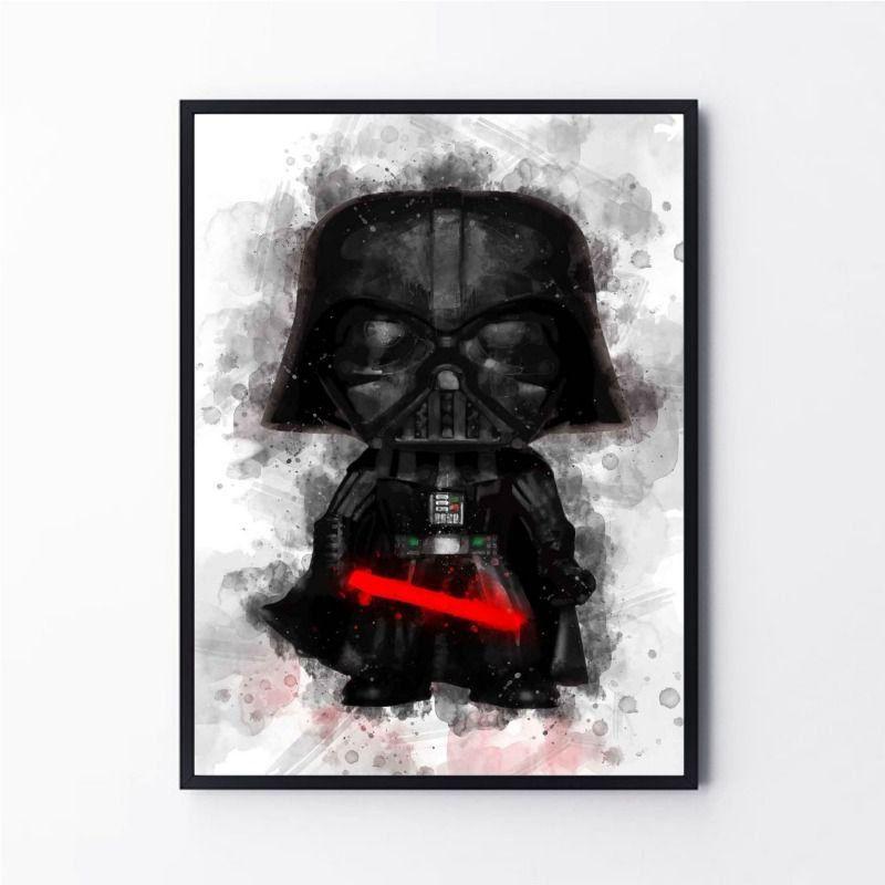 Desenho Darth Vader Pintura Aquarela