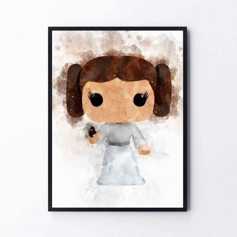 Desenho Princesa Leia Star Wars