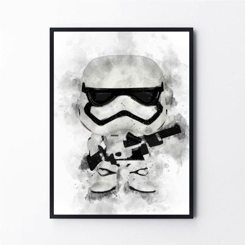 Desenho Stormtrooper Aquarela Star Wars
