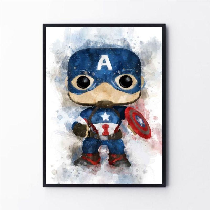 Desenho Super Herói Capitão América