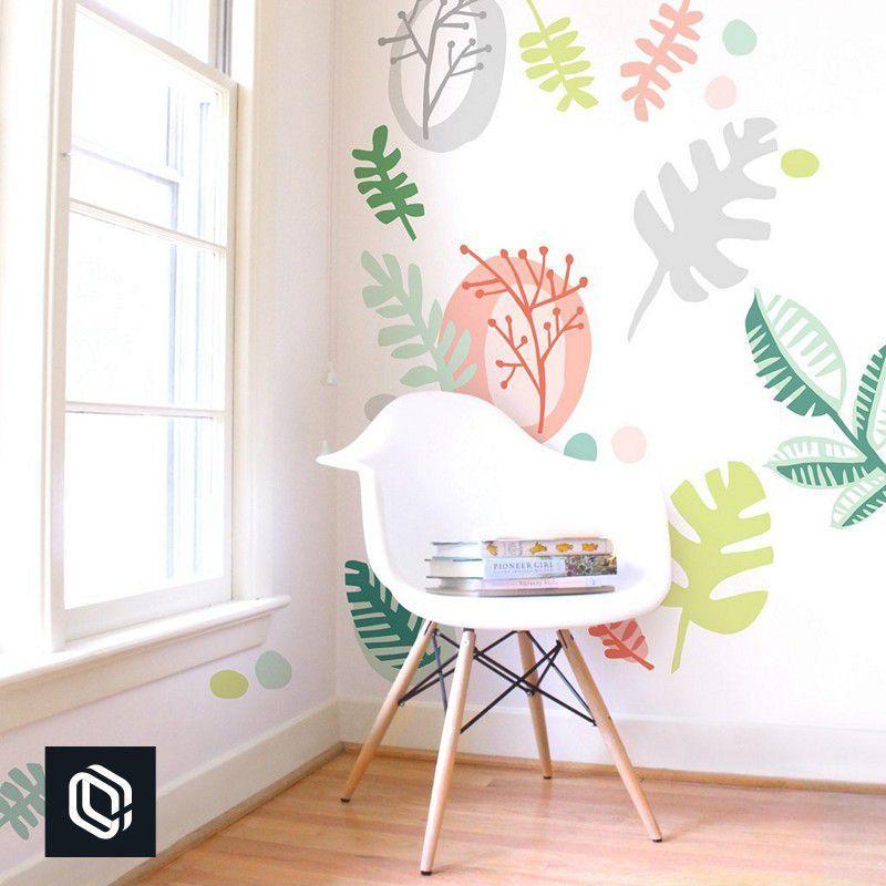 Adesivo decorativo aplique kit folhas tropicais 30unds