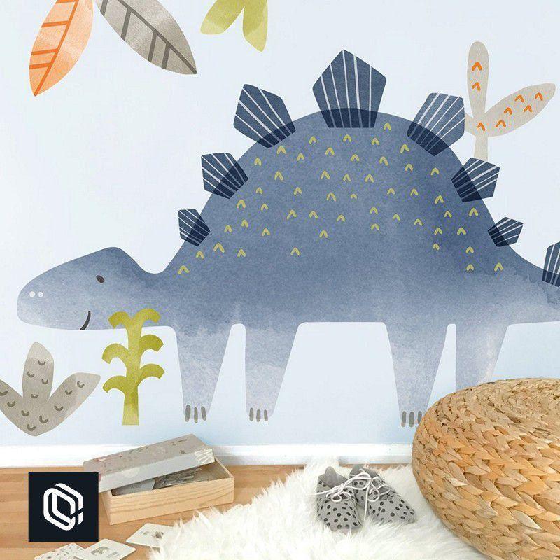 Adesivo de parede Infantil Zoo Safári gigante dinossauro