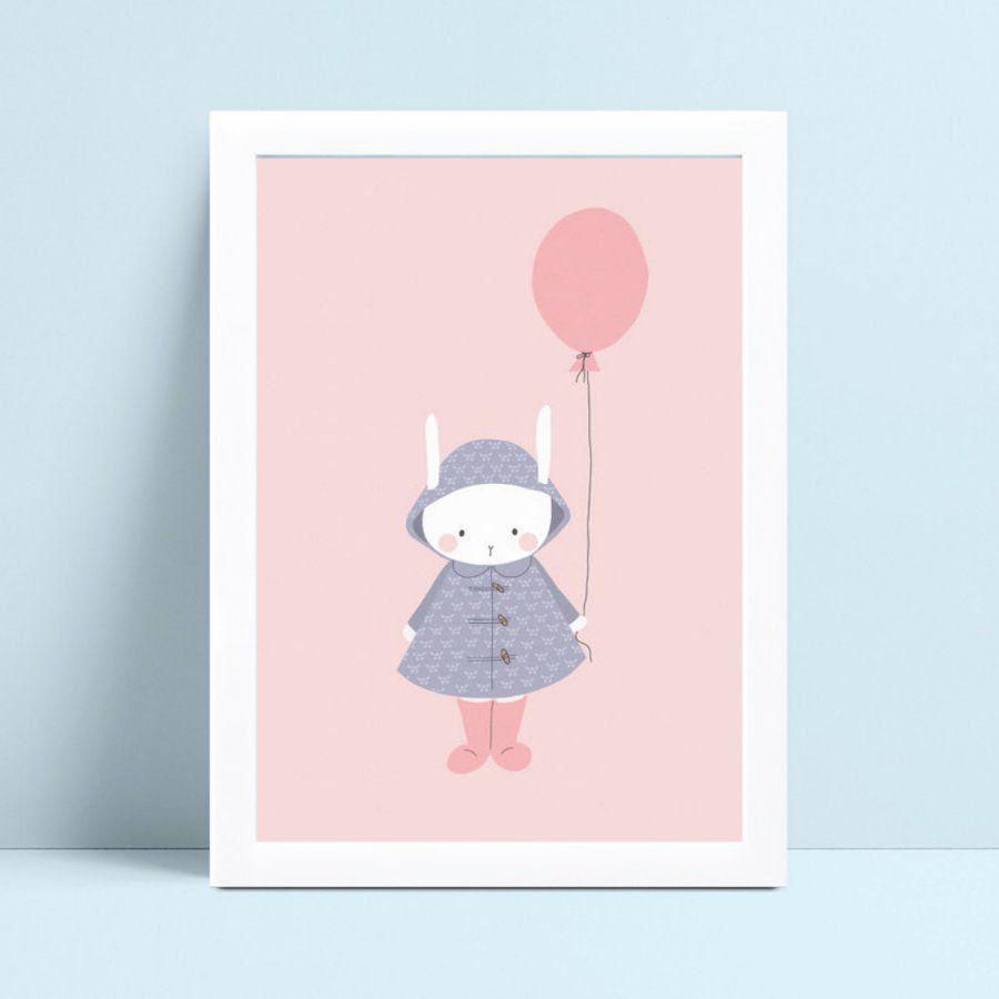 Placa infantil quarto bebê coelho de vestido menina