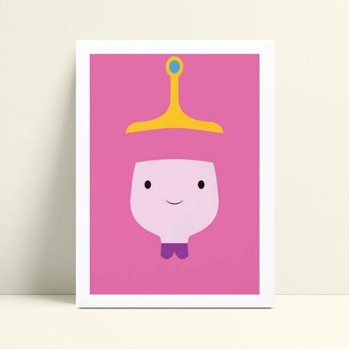 placa poster infantil desenho animado abstrato rosa