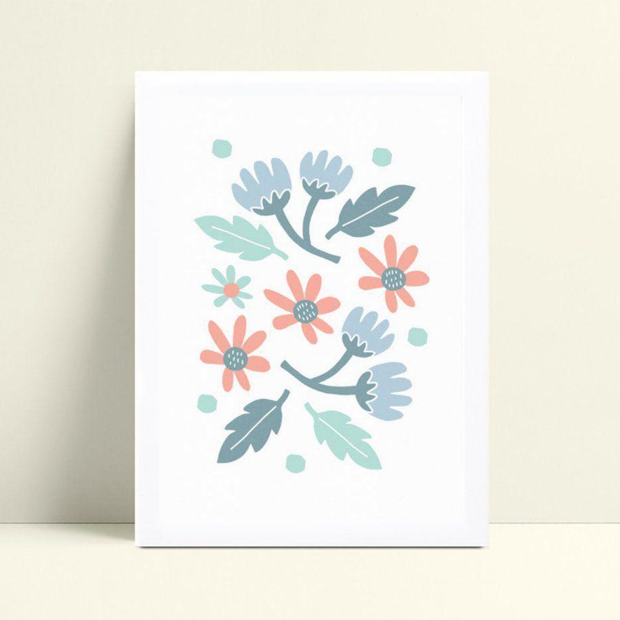 Placa quadro decoração flores