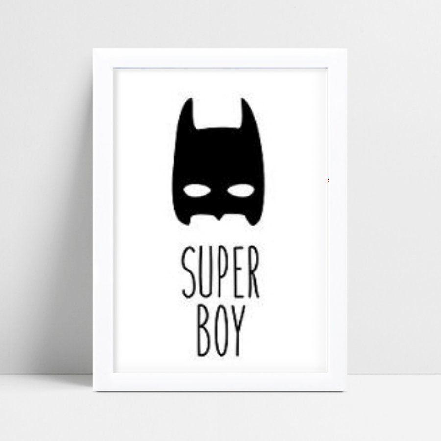 Placa Quadro Decoração Infantil máscara Batman menino