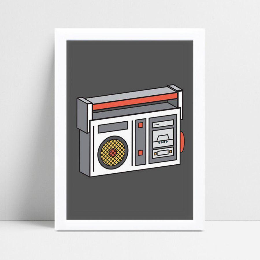 Placa Quadro Infantil Menina Menino desenho rádio