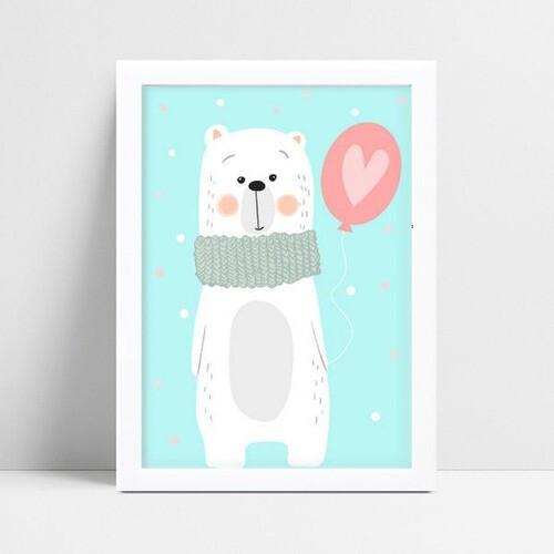 Placas Decorativas Em Mdf urso cachecol balão coração