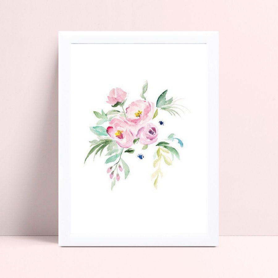 Placas Quadros Decorativos Infantil flores