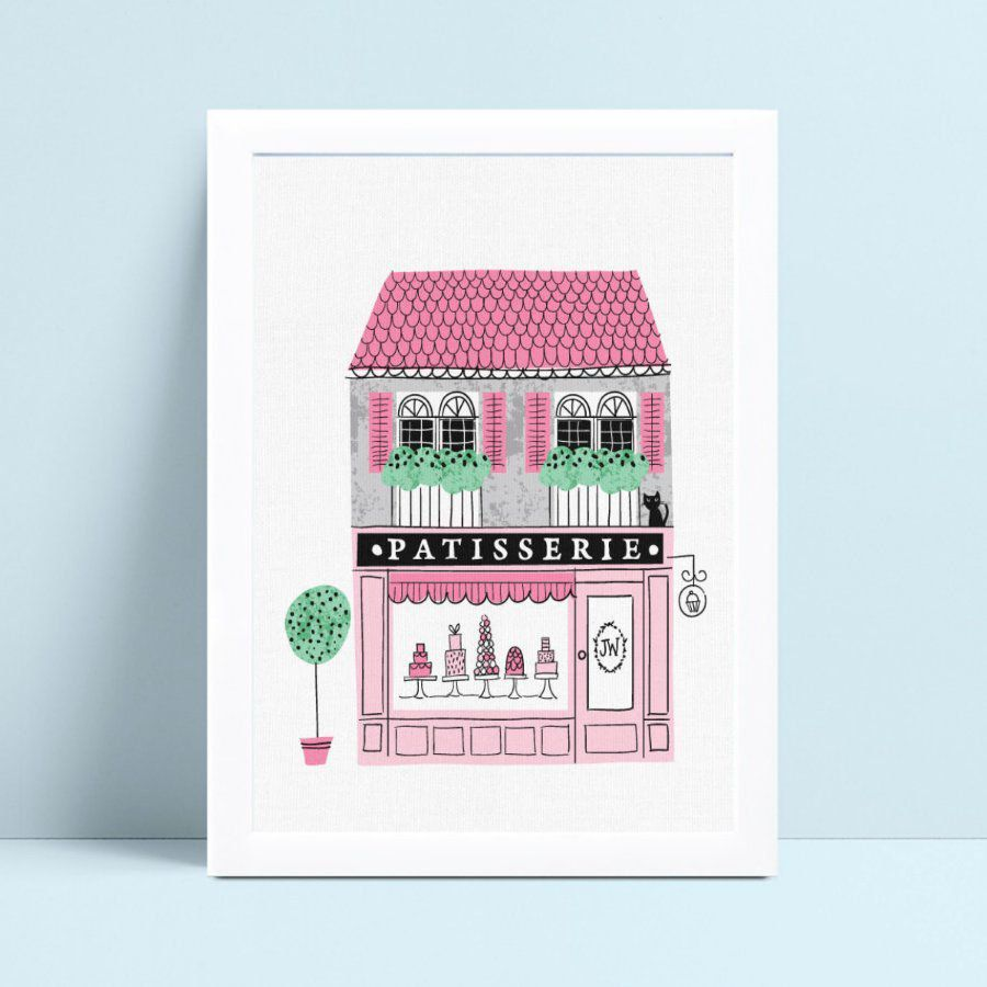 Poster infantil menina loja de bolo