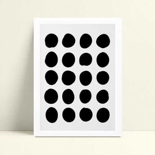 Poster infantil quadro bolas grandes pretas