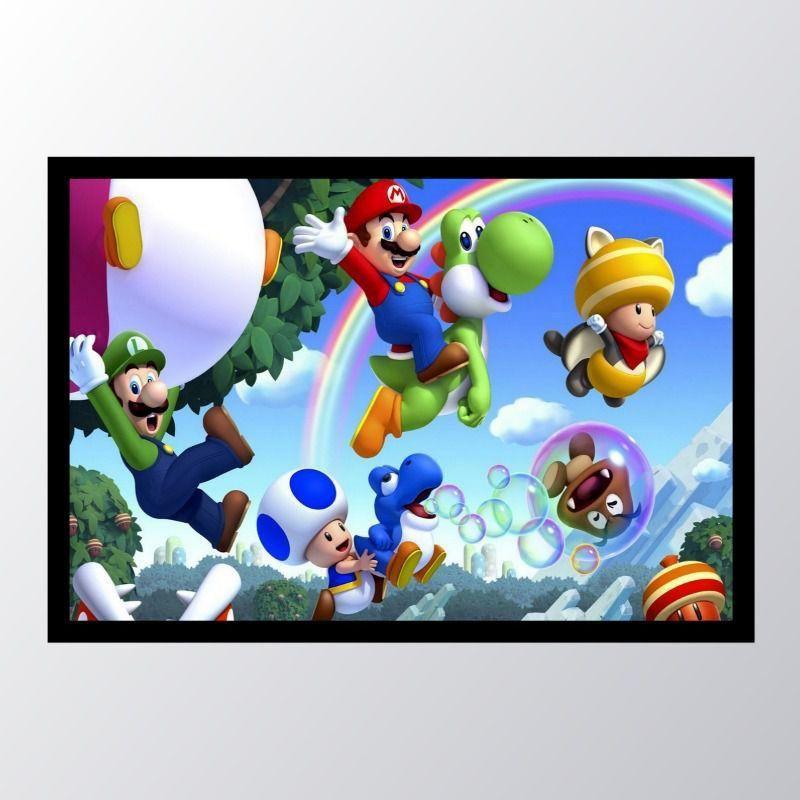 Quadro com moldura Super Mario Bros._005