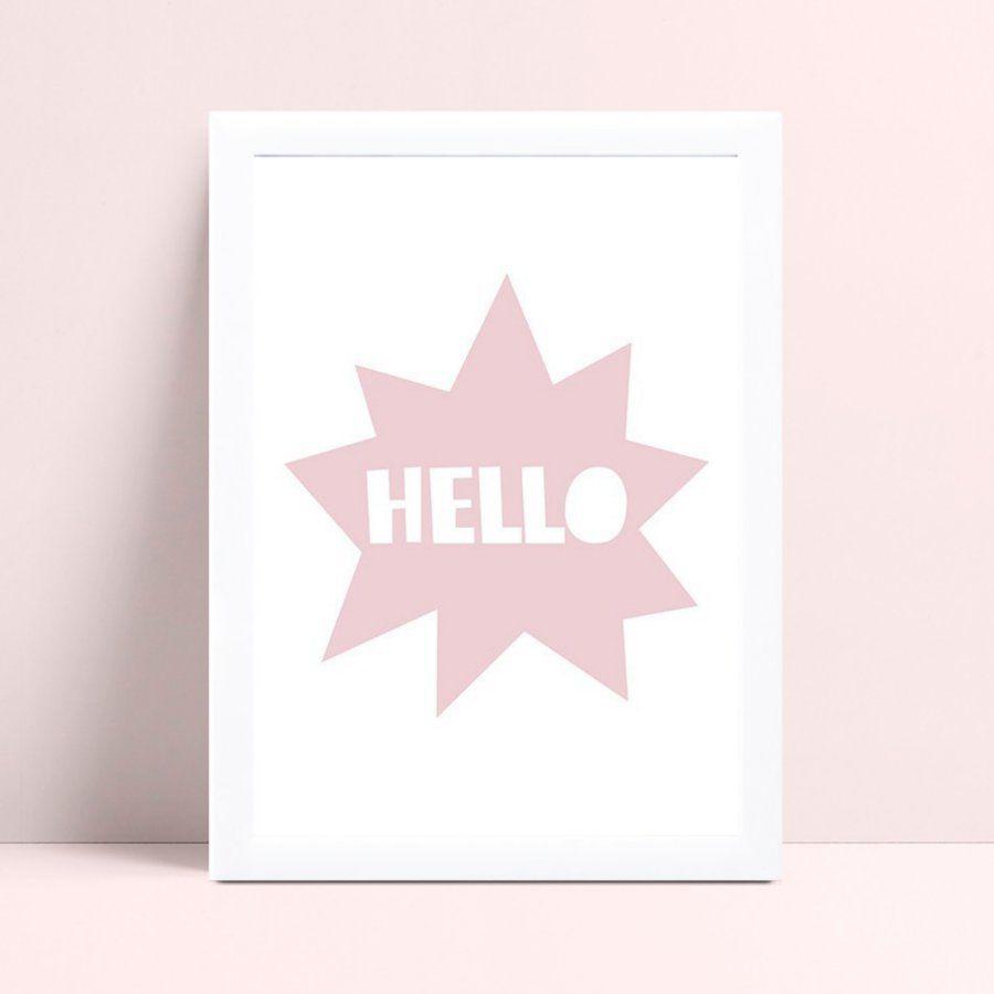 Quadro Decoração Infantil balão pensamento estrela rosa