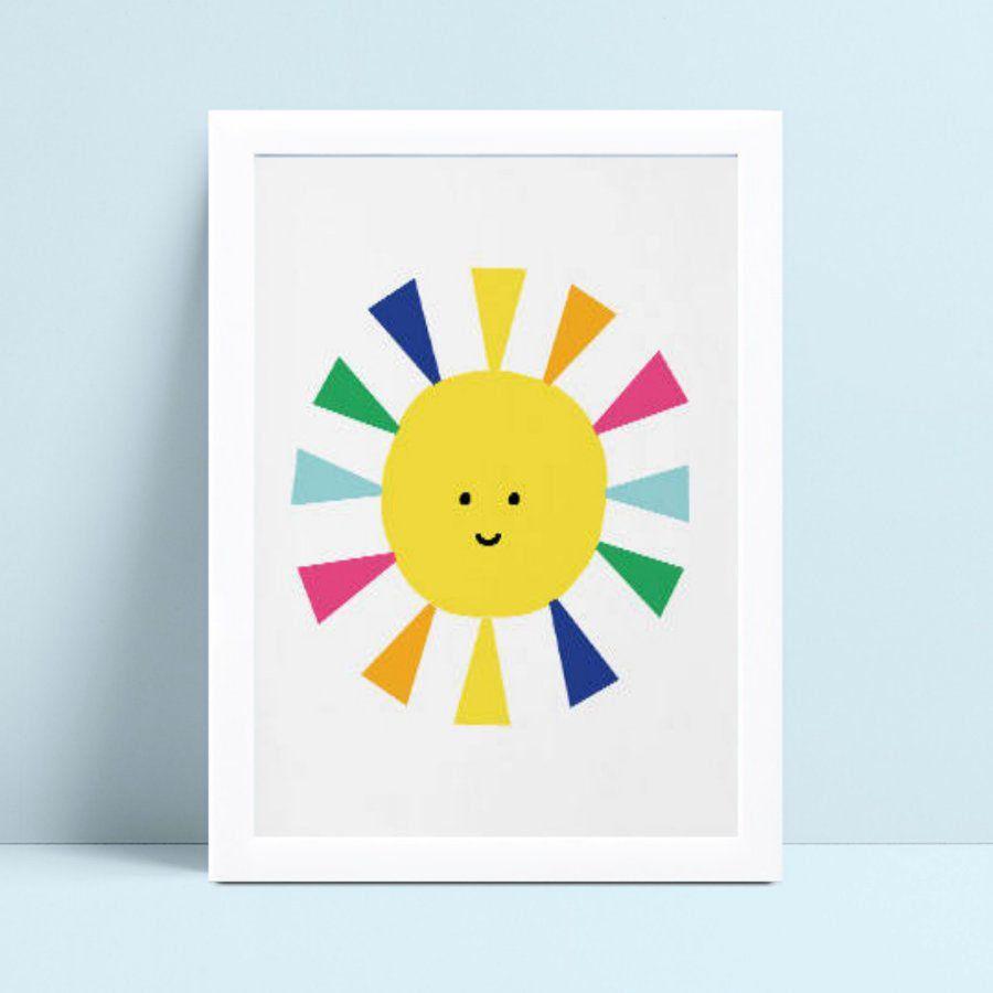 Quadro Decoração Infantil sol colorido