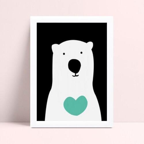 Quadro Decoração Infantil urso branco