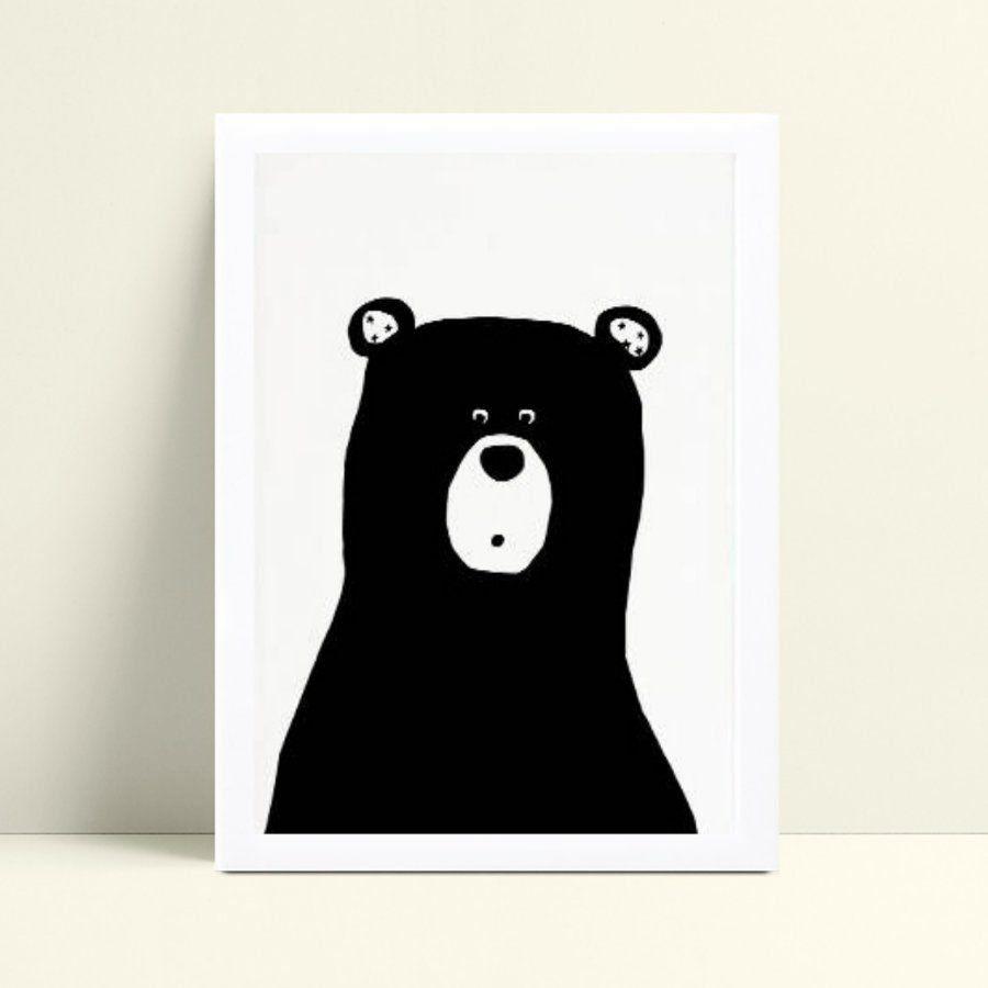 Quadro Decoração Infantil urso preto