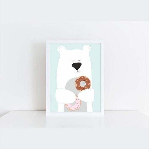 Quadro Decorativo Infantil Urso Danuts