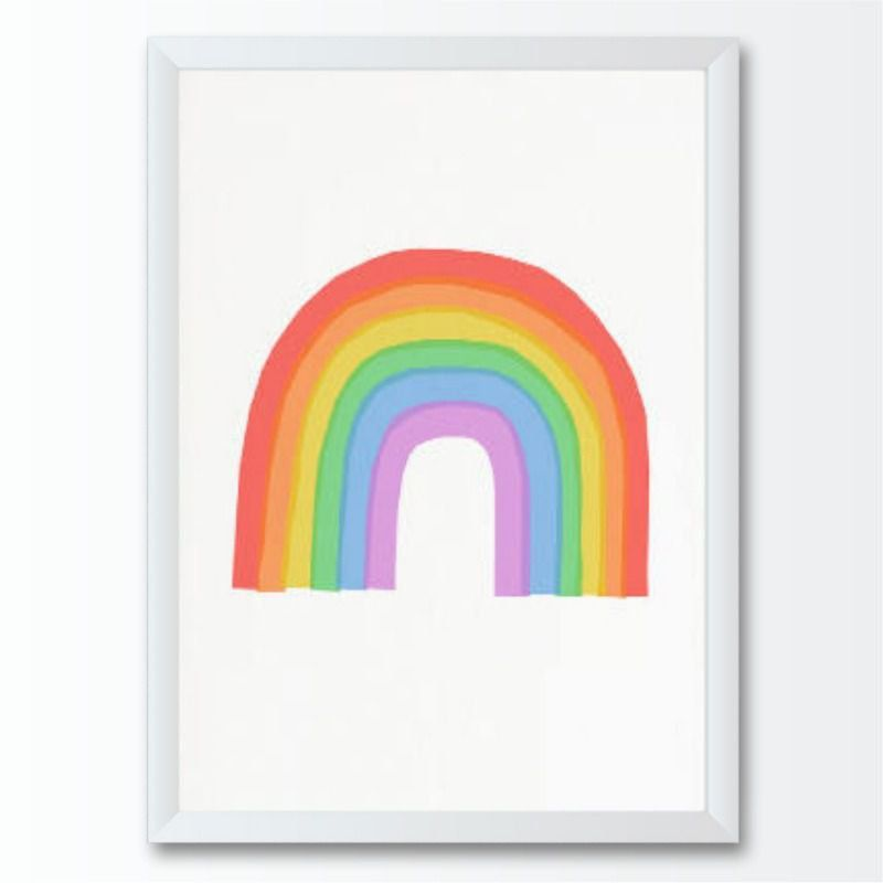 Quadro infantil Arco-íris Colorido em Aquarela