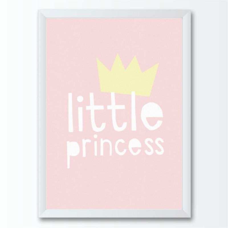 Quadro infantil Bebê Menina Pequena Princesa