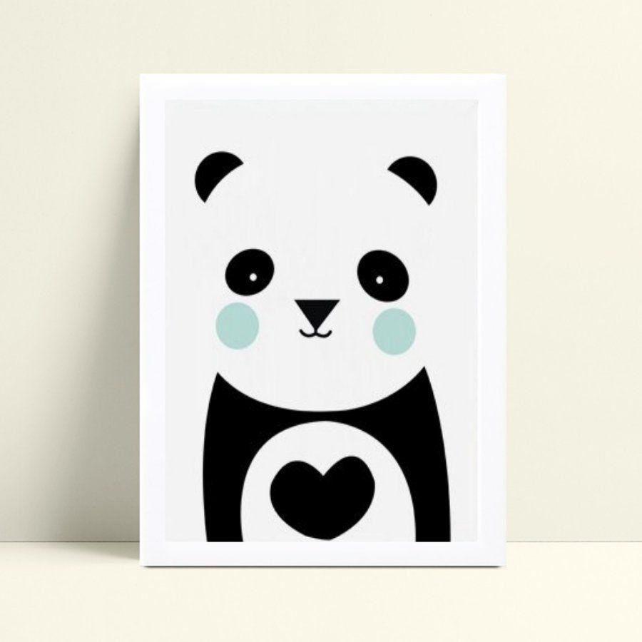 Quadro infantil decoração quarto panda