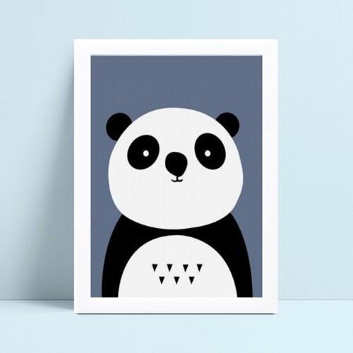 Quadro infantil decoração quarto panda animal