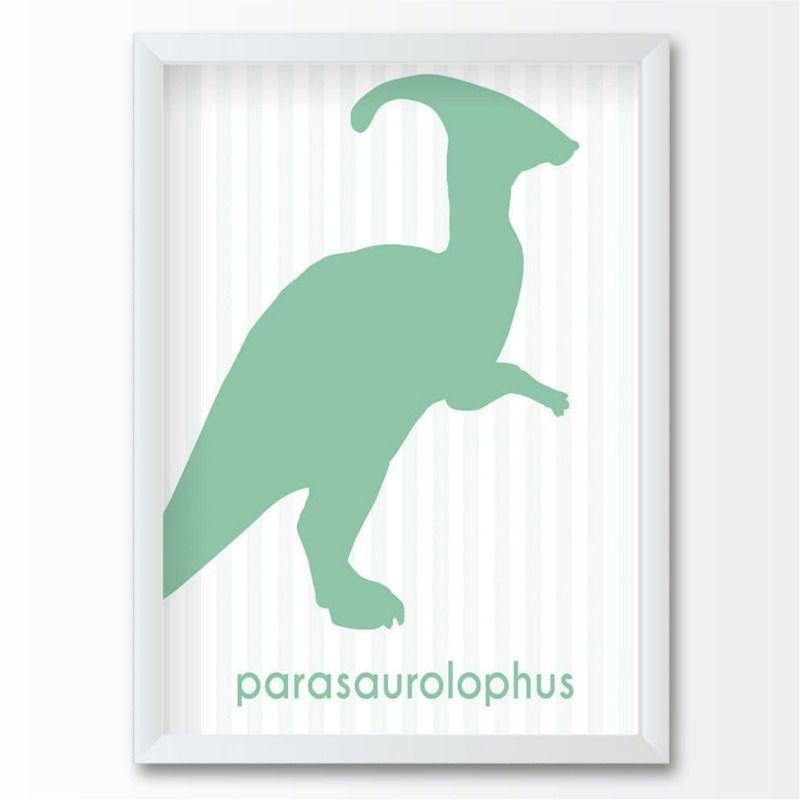 Quadro infantil dinossauro parasaurolophus