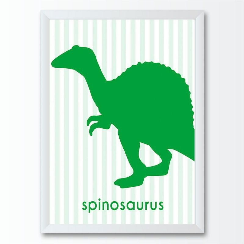 Quadro infantil dinossauro spinosaurus