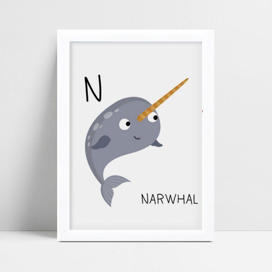 Quadro infantil grande baleia inicial nome personalizado