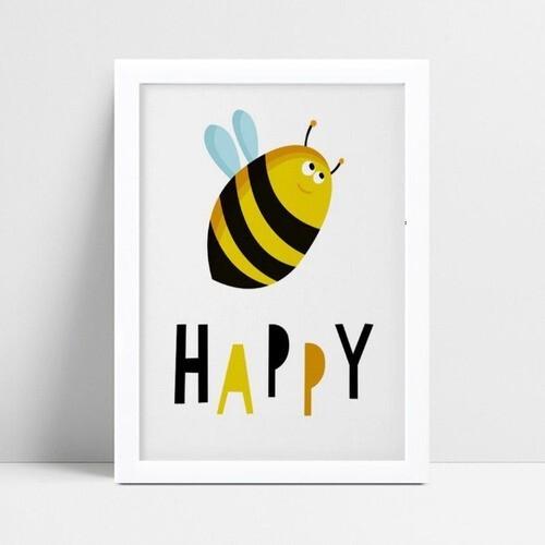 Quadro infantil personalizado infantil decoração abelha