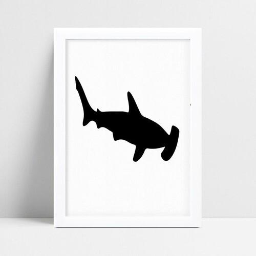 Quadro infantil personalizado infantil decoração tubarão