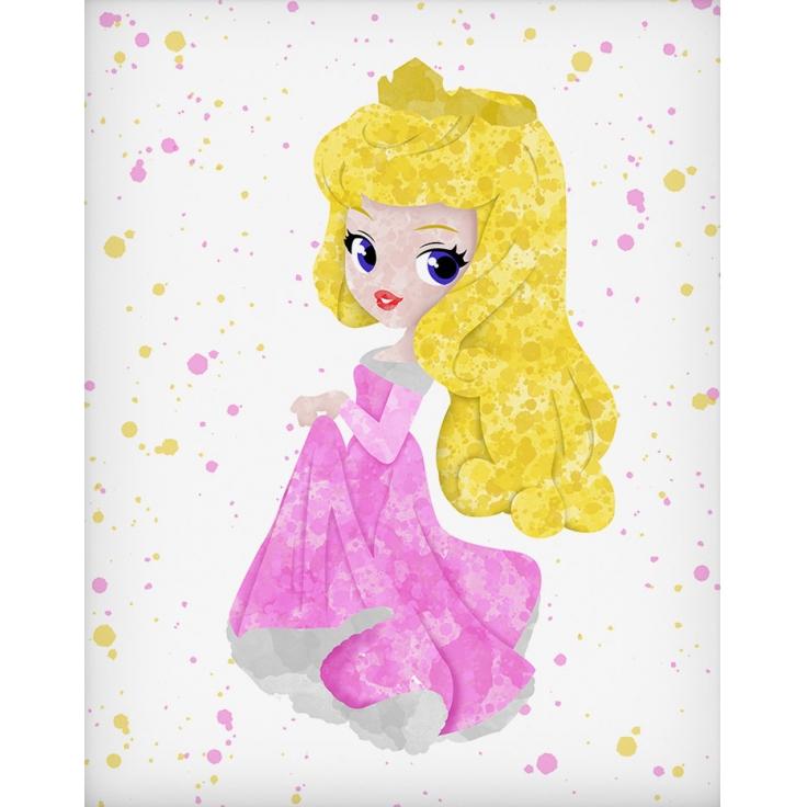 Quadro infantil Princesa Disney Aurora
