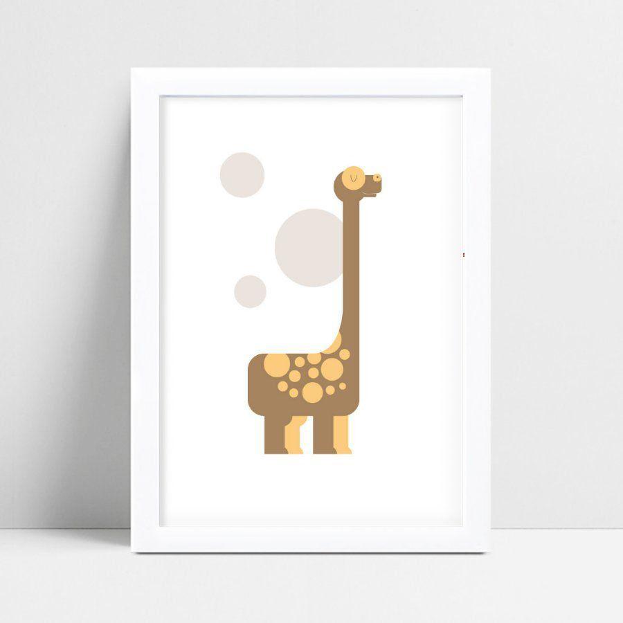 Quadro infantil quarto bebê desenho dinossauro