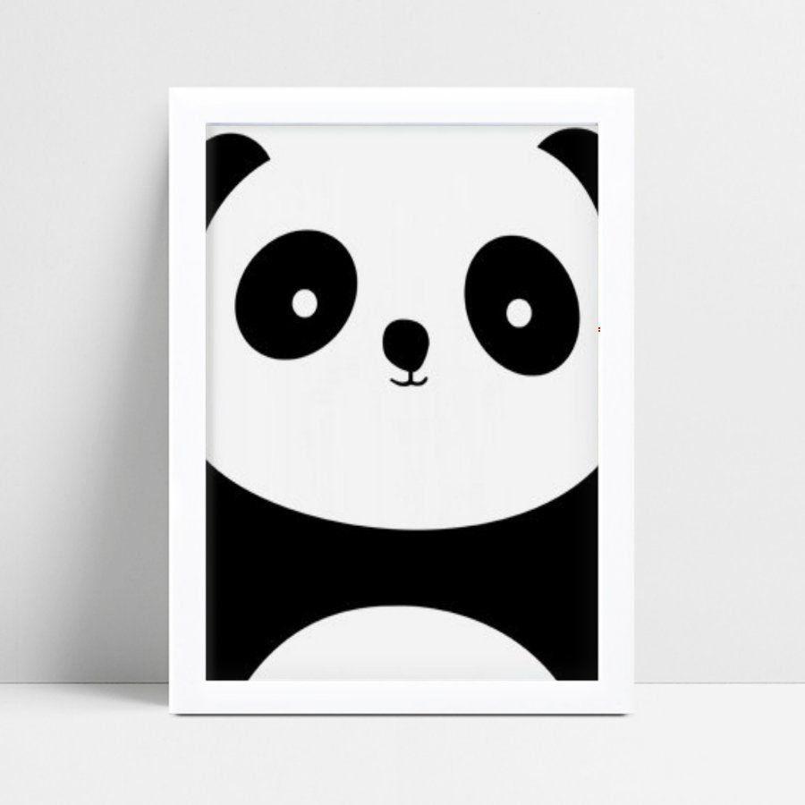 Quadro infantil quarto bebê panda animal