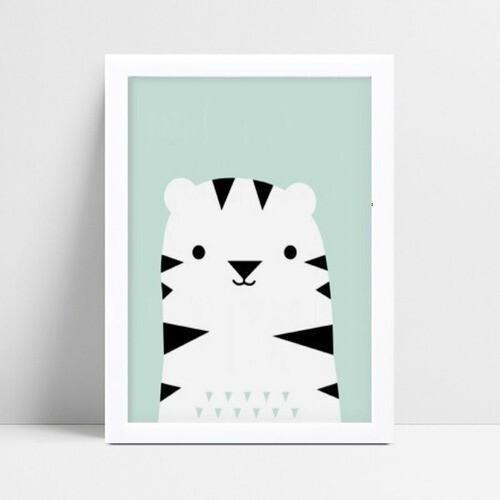 Quadro infantil quarto bebê tigre