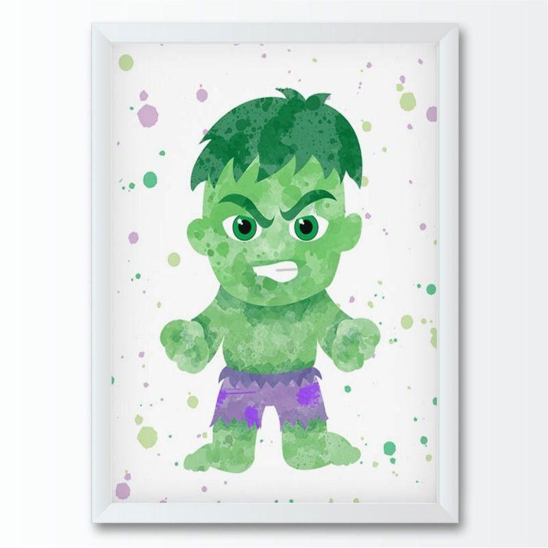 Quadro infantil Super Herói Hulk