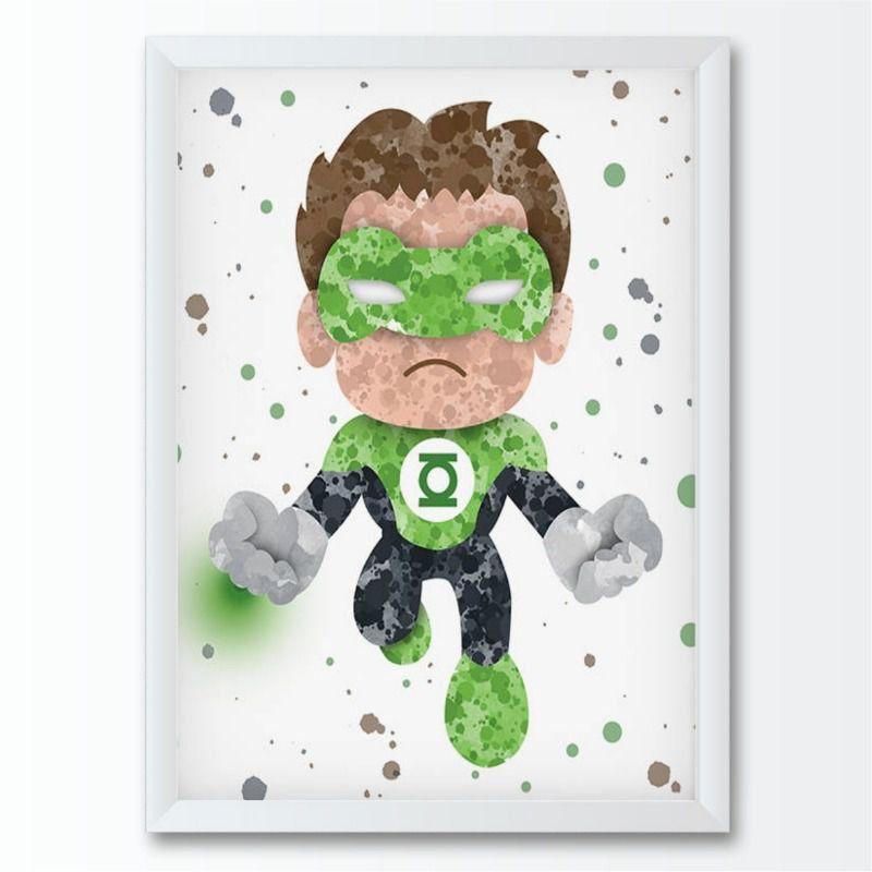 Quadro infantil Super Herói Lanterna Verde