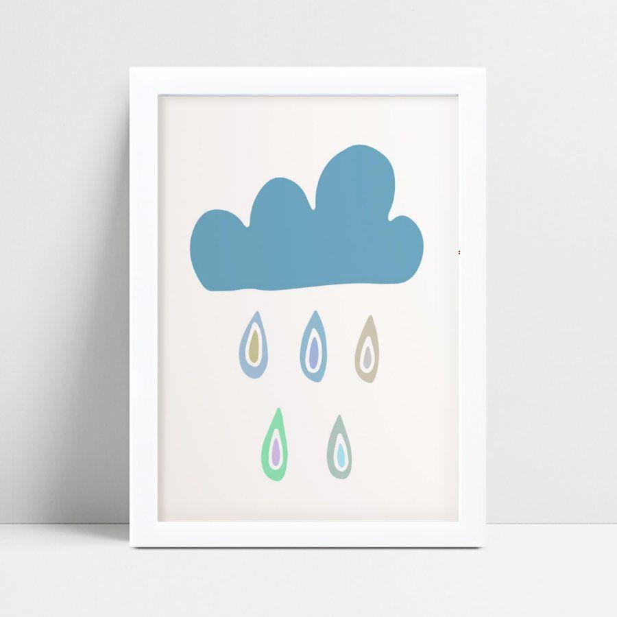 Quadro mdf menina menino nuvem azul céu