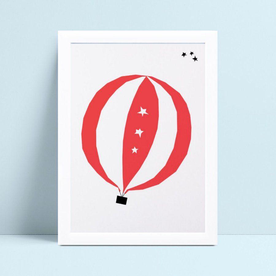 Quadro Poster Infantil balão vermelho