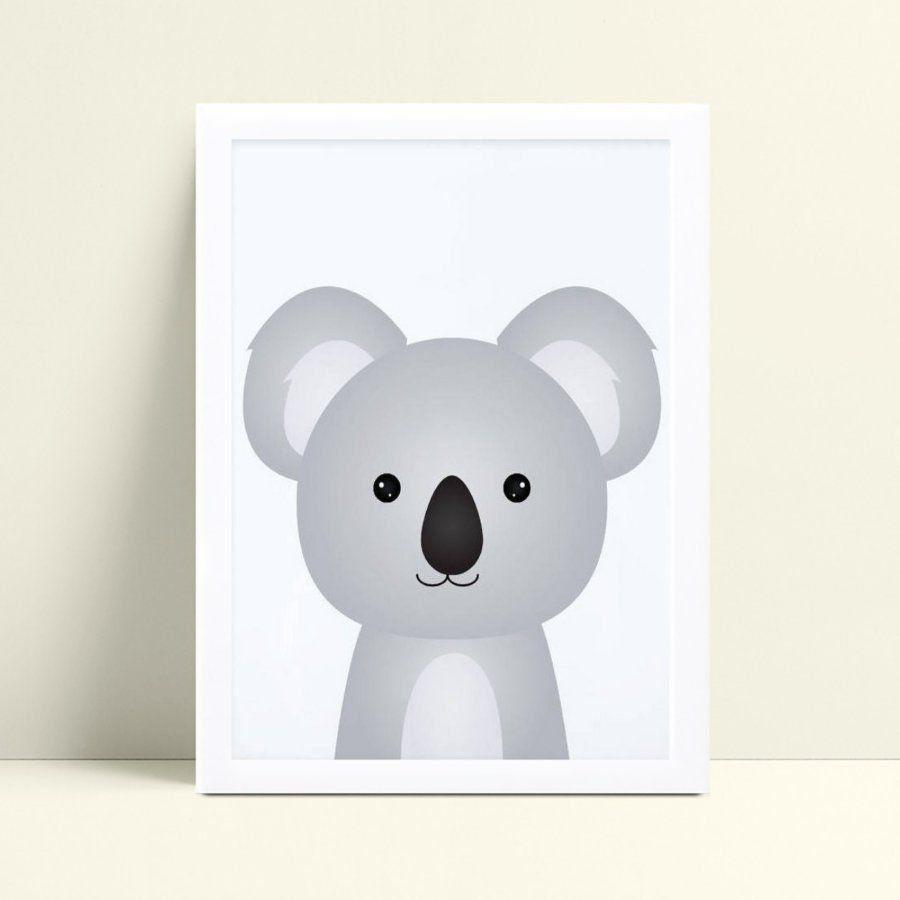 Quadro Poster Infantil coala