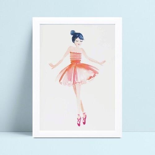 Quadro Poster Infantil desenho bailarina